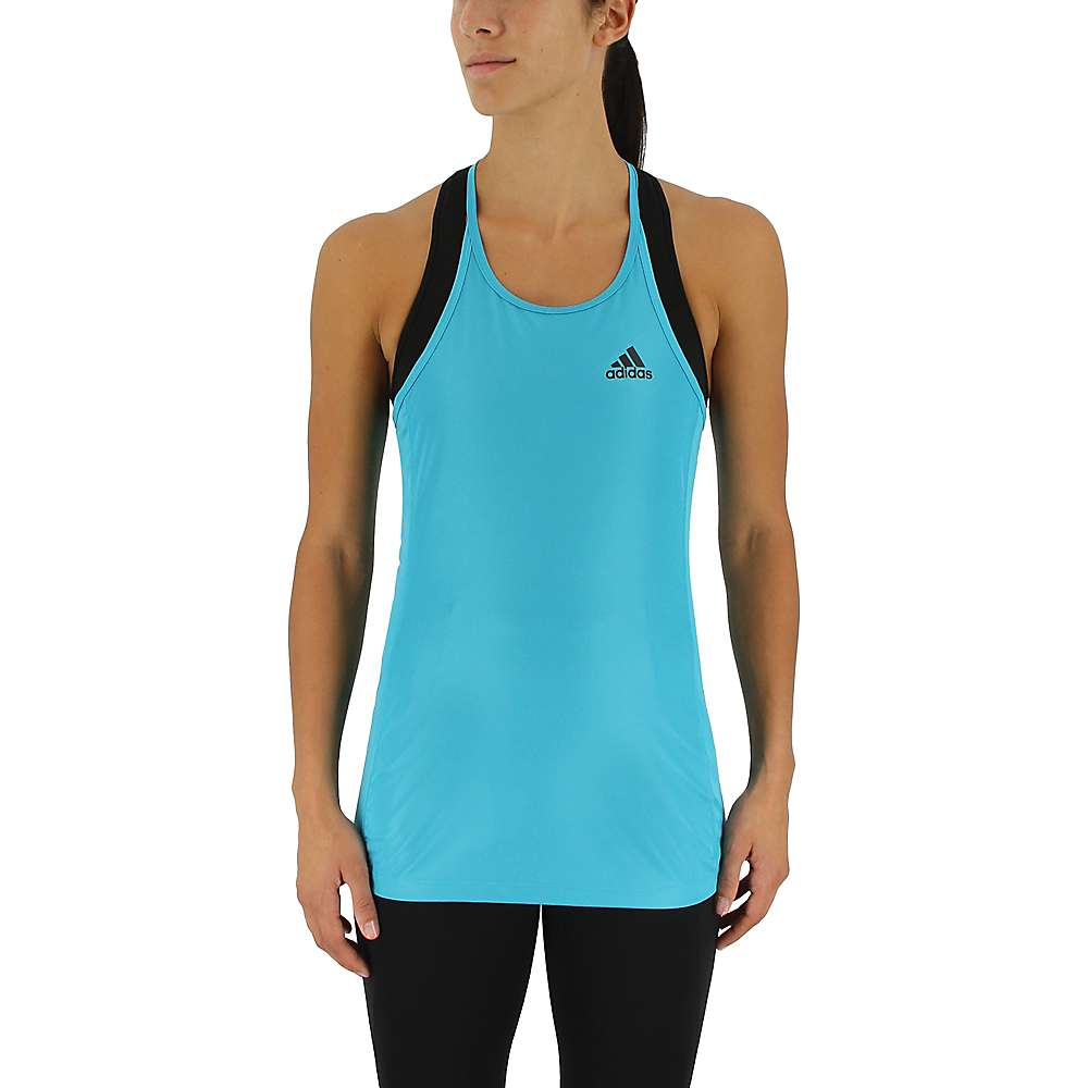Adidas Women's Performance Step Up Tank - Medium - Energy Blue / Black
