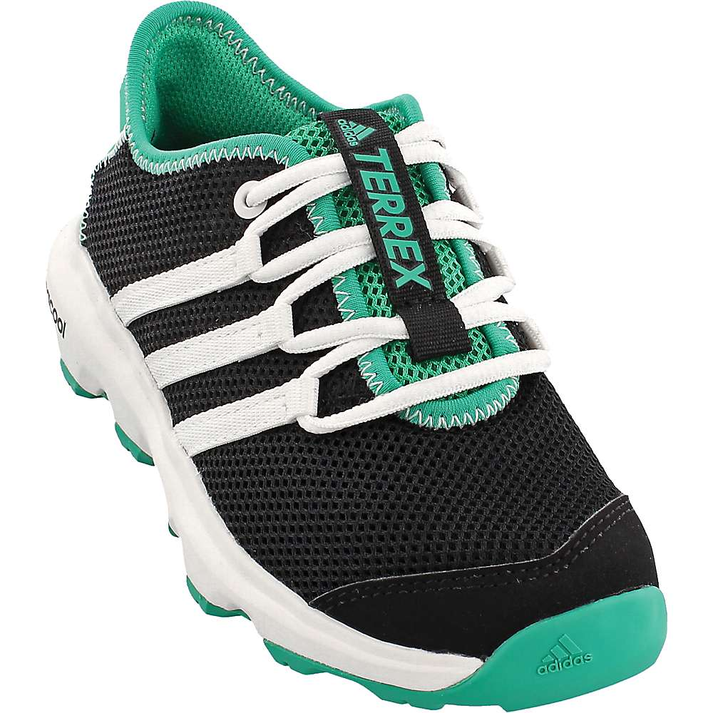 Adidas Kids' Terrex Climacool Voyager Shoe - 4 - Black / Chalk White / Core Green