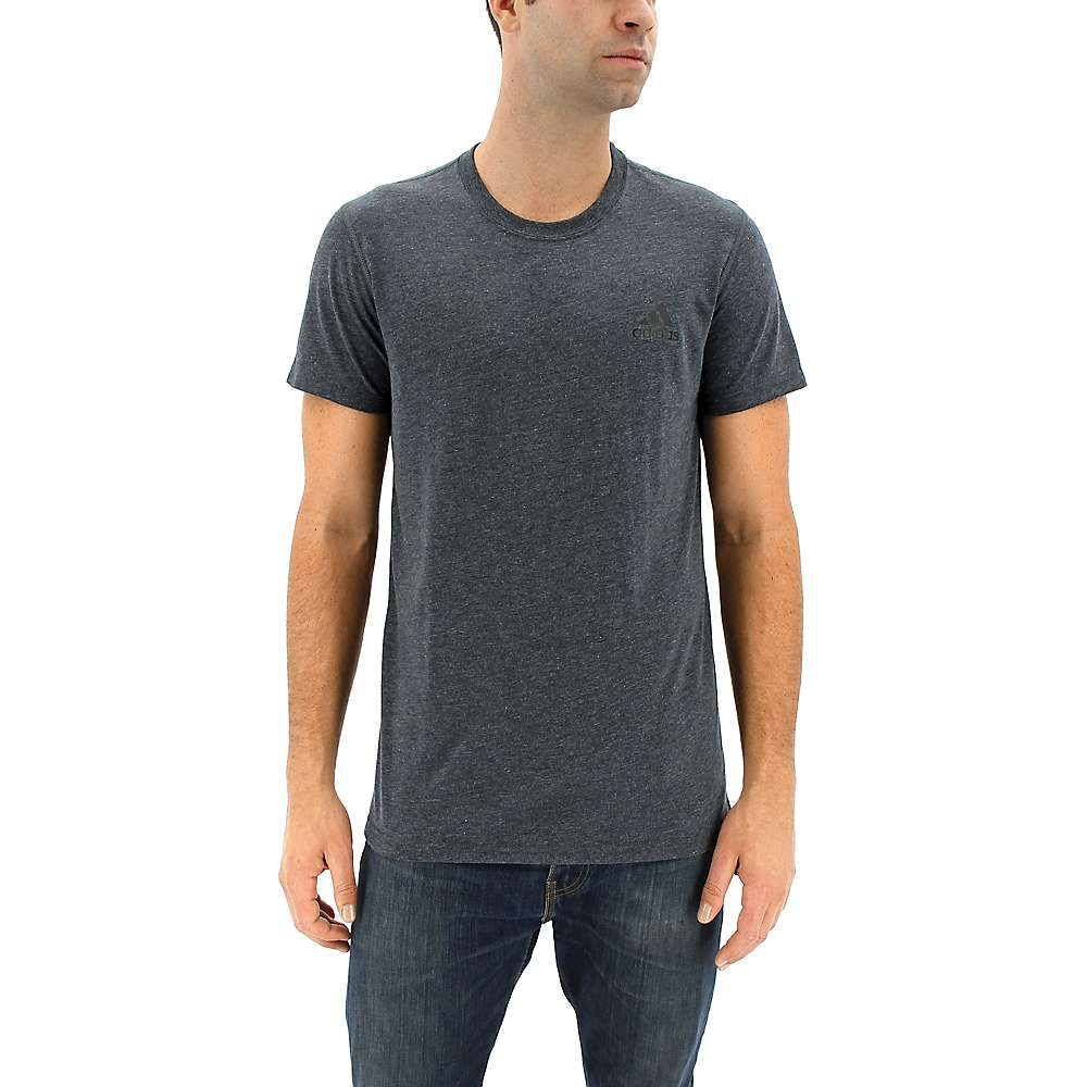 Adidas Men's Ultimate Short Sleeve Tee - Small - Dark Grey Heather