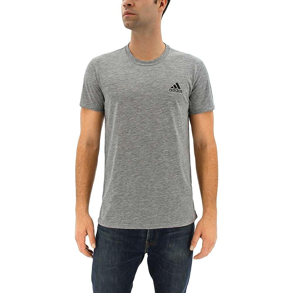 Adidas Men's Ultimate Short Sleeve Tee - Medium - Medium Grey Heather