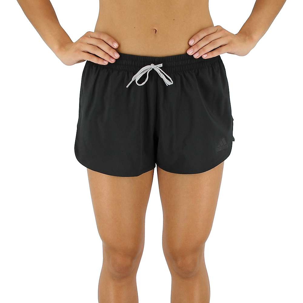 Adidas Women's Woven Split 3 Inch Short - Large - Black / Black