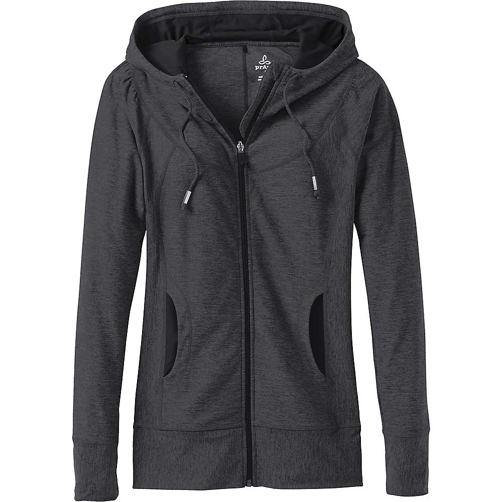 Prana Women's Ember Zip Up Hoodie - Medium - Charcoal