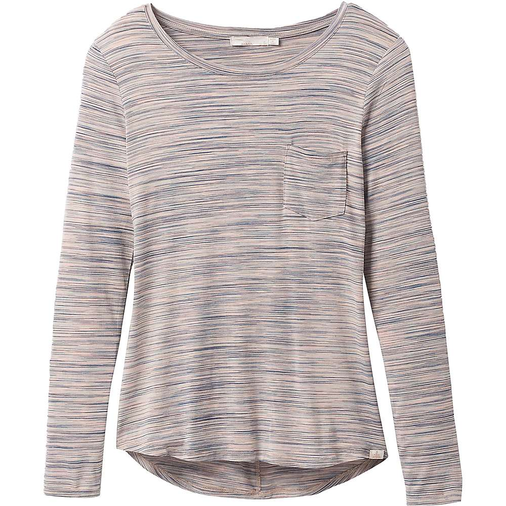 Discounts Prana Womens Foundation LS Crew Neck Top - Large - Frost