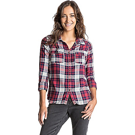 Roxy Plaid On You LS Top