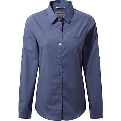 Craghoppers Kiwi Long-Sleeved Shirt - China Blue - Women
