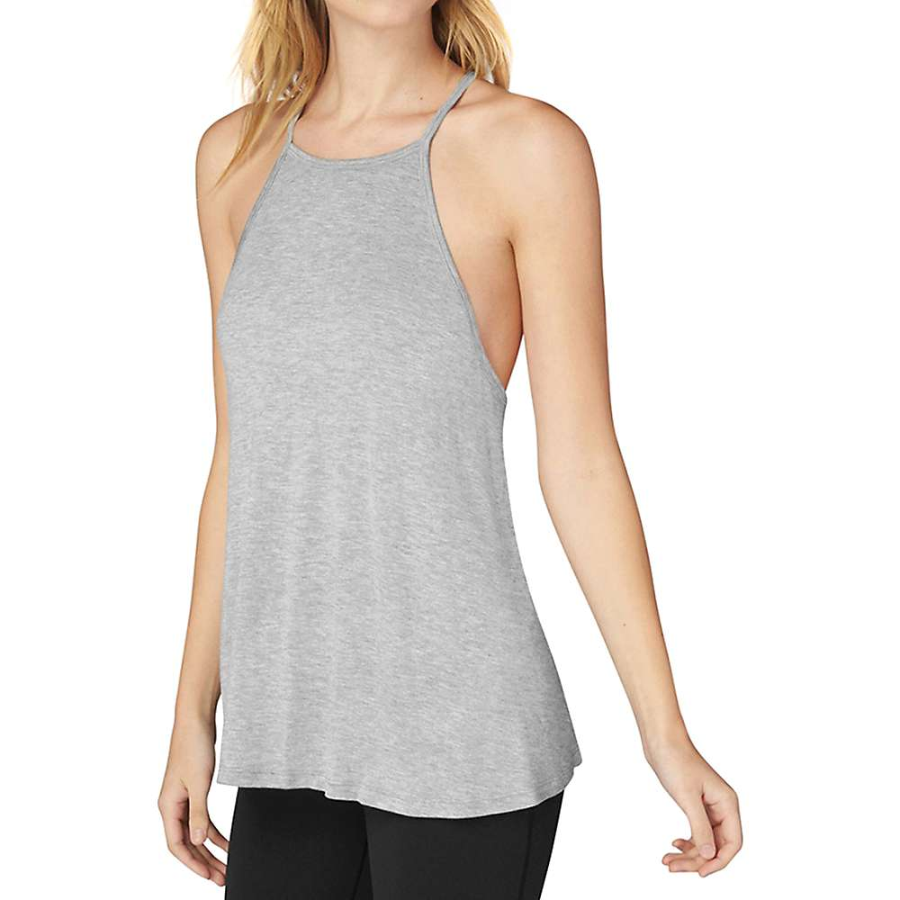 Beyond Yoga Women's Lay Low Tank Top - Medium - Light Heather Grey
