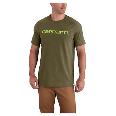 Carhartt Force Cotton Delmont Graphic SS T-Shirt - XL Tall - Moss - Men