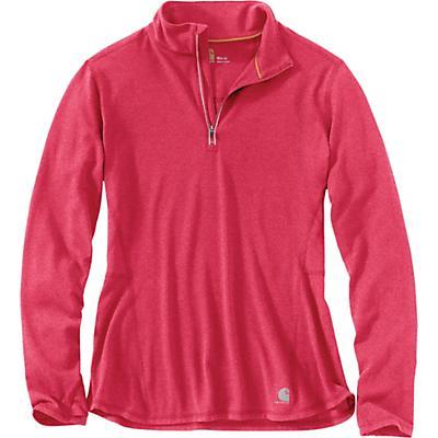 Carhartt Force Ferndale Quarter Zip Shirt - Cranberry Heather - Women
