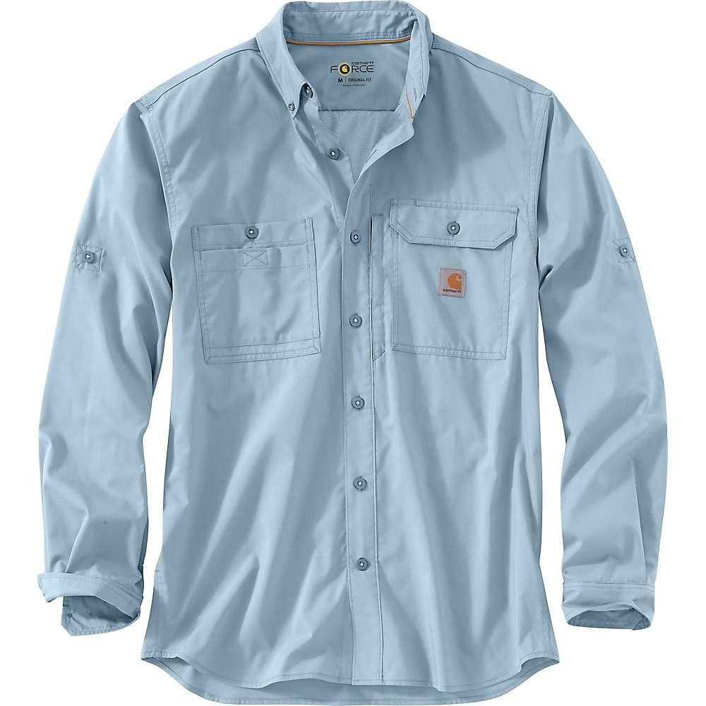 Carhartt Men's Force Ridgefield Solid LS Shirt - Large - Celestial Blue