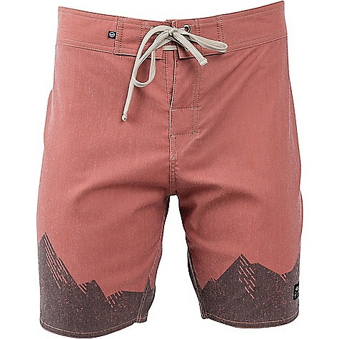 United By Blue Ridged Mountains Scallop Boardshort