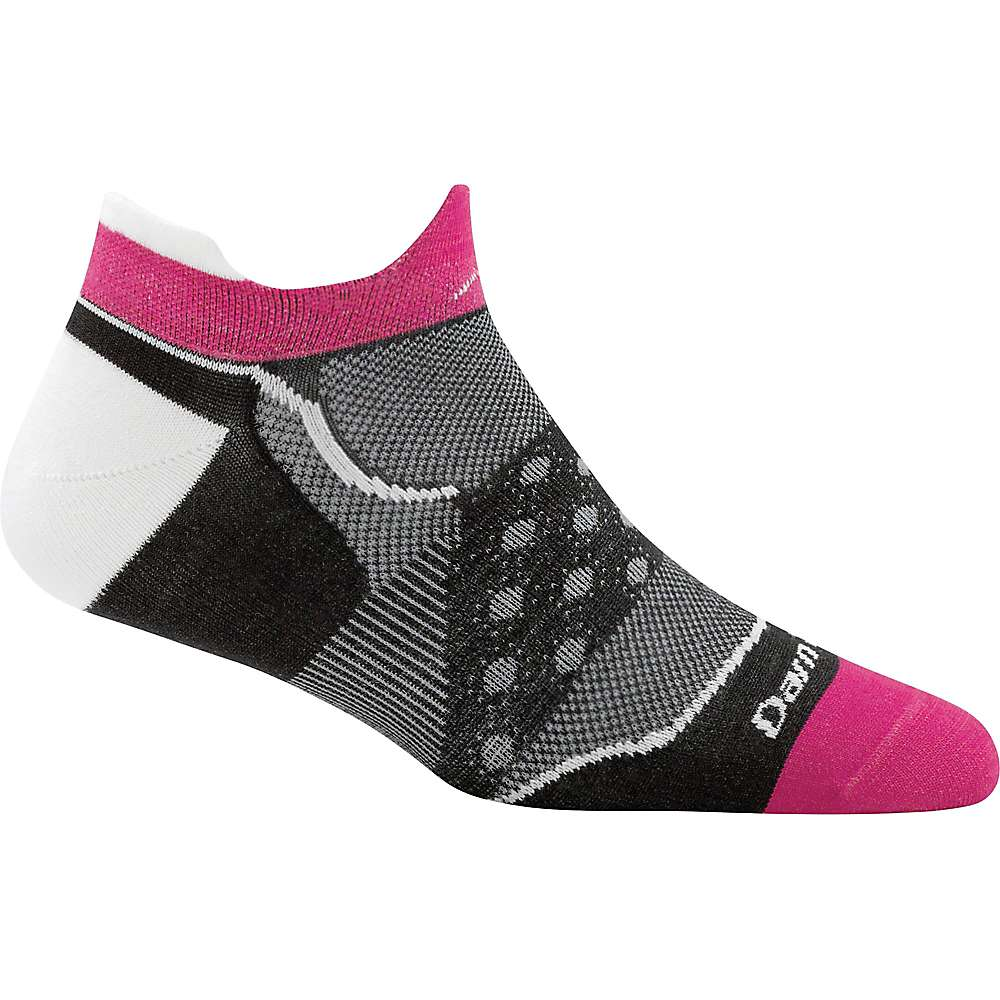 Darn Tough Women's Dot No Show Tab Ultra-Light Sock - Small - Black