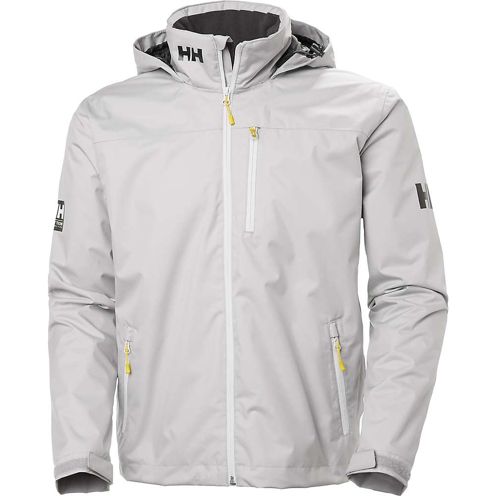 Helly Hansen Men's Crew Hooded Midlayer Jacket - Large - Silver Grey