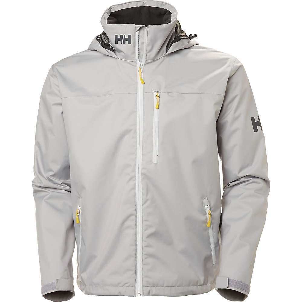 Helly Hansen Men's Crew Hooded Jacket - Small - Silver Grey