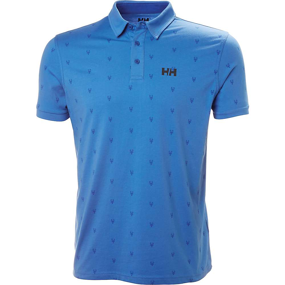 Helly Hansen Men's Fjord Polo - Large - Blue Water Print