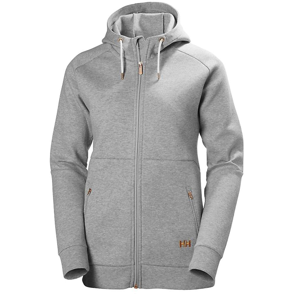 Helly Hansen Women's Naiadline Full Zip Hoodie - Medium - Grey Melange