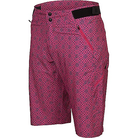 Zoic Women's Navaeh Novelty Short Pink Square Zoic Women's Navaeh Novelty Short - Pink Square - in stock now. FEATURES of the Zoic Women's Navaeh Novelty Short Fusion inseam gusset provides superior range of motion and eliminates seat hang-ups 6 pockets give you plenty of stash options Locking zippers with logo tabs stay shut while you ride Stitchless leg hem and tagless labels provide a clean, comfortable finish