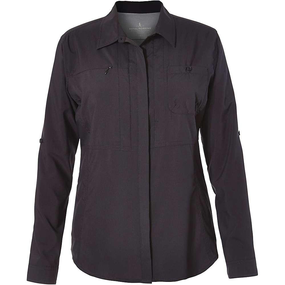Royal Robbins Women's Expedition Chill LS Shirt - XL - Jet Black