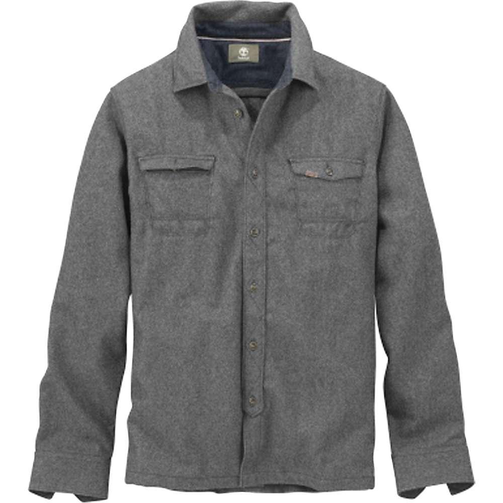 Timberland Men's Long Hubbard River Wool Overshirt - Medium - Charcoal Heather