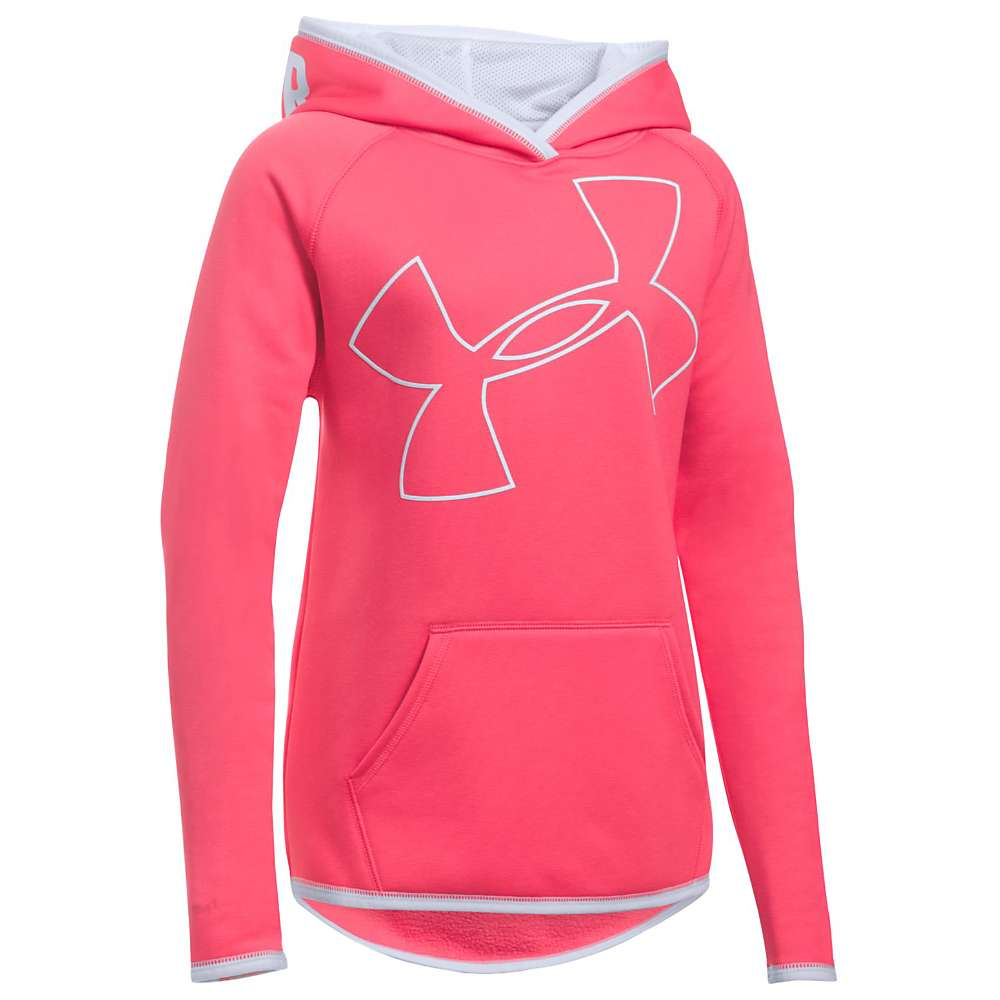 Under Armour Girls' UA Armour Fleece Highlight Hoodie - Medium - Gala / White / White