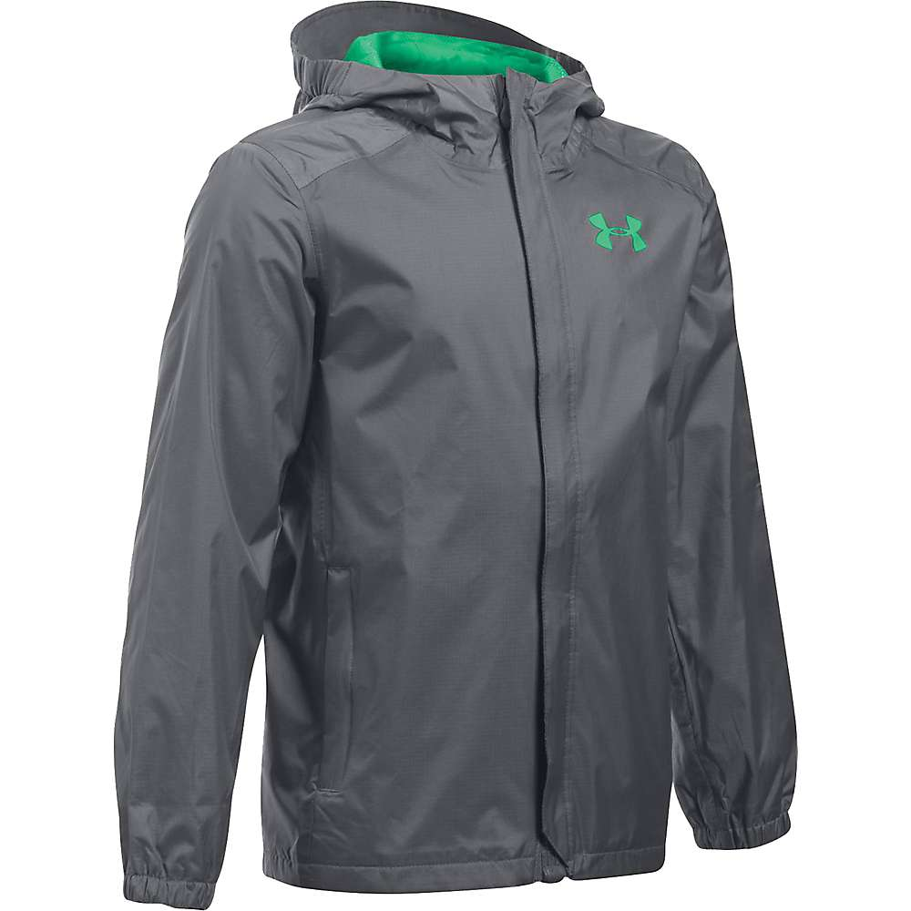 Under Armour Boys' UA Bora Jacket - XS - Graphite / Black / Black