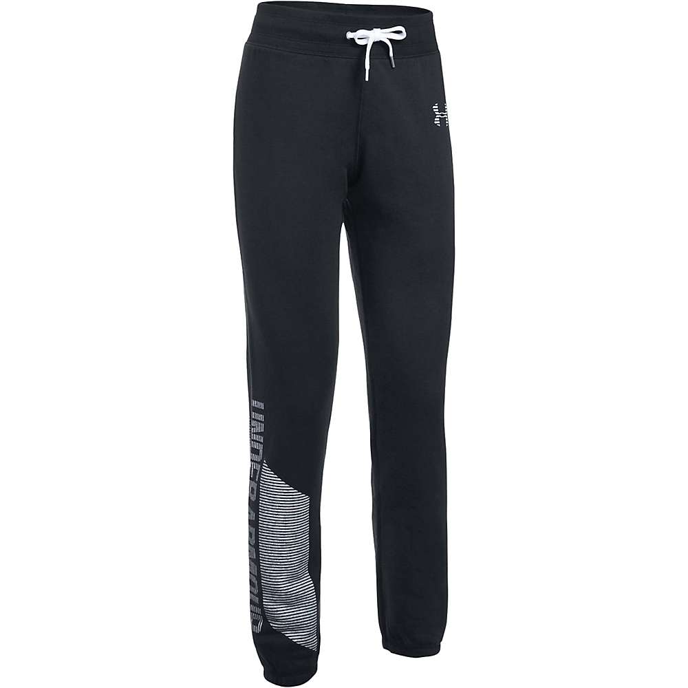 Under Armour Women's UA Favorite Fleece Pant - Medium - Black / White / White