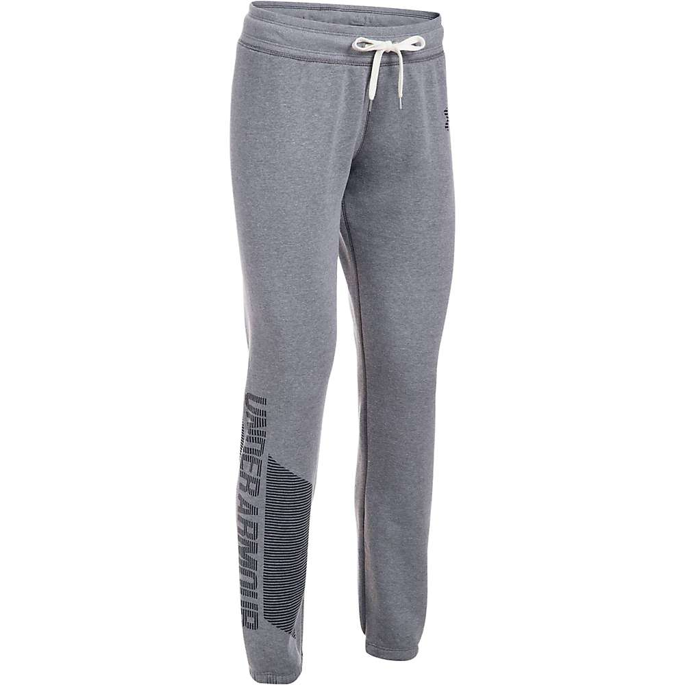 Under Armour Women's UA Favorite Fleece Pant - Medium - Black Light Heather / Black / Black