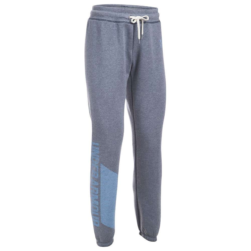 Under Armour Women's UA Favorite Fleece Pant - Small - Midnight Navy Lt Heather/Carolina Blue/Crlna Blue