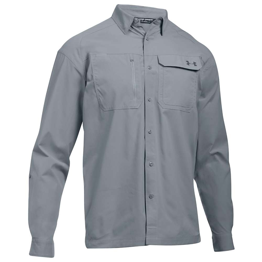 Under Armour Men's UA Fish Hunter LS Solid Shirt - Small - Steel / Rhino Grey