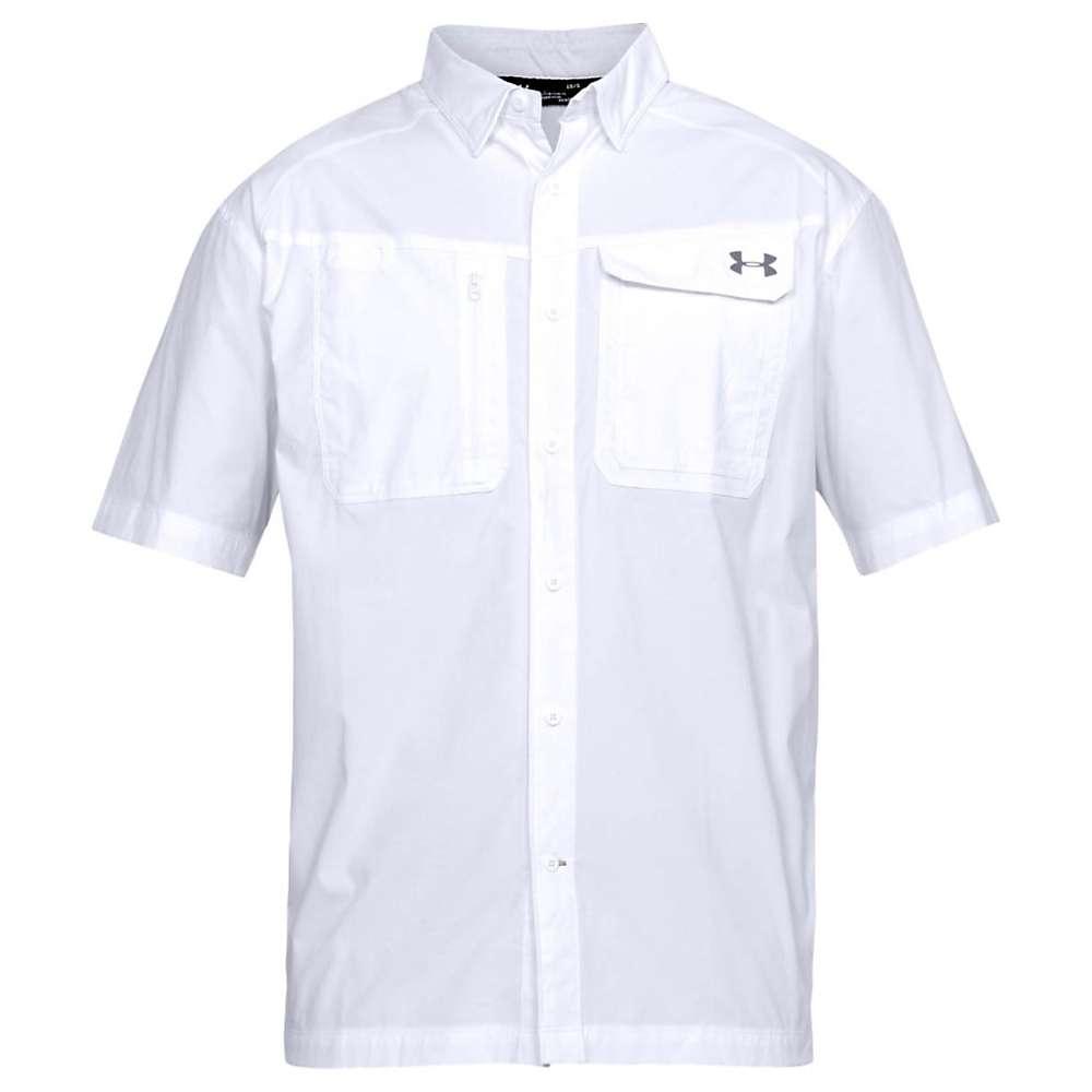 Under Armour Men's UA Fish Hunter SS Solid Shirt - XL - White / Graphite