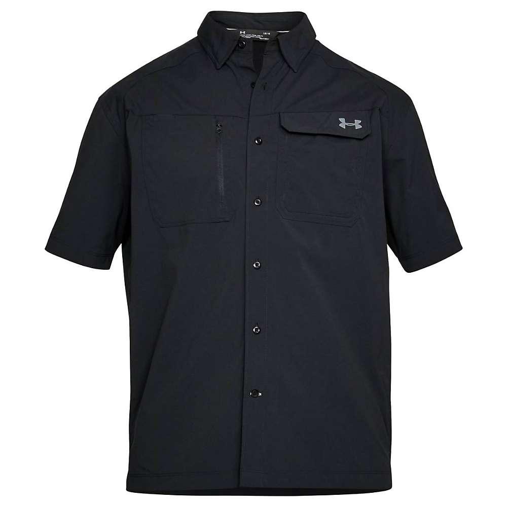 Under Armour Men's UA Fish Hunter SS Solid Shirt - Medium - Black / Steel