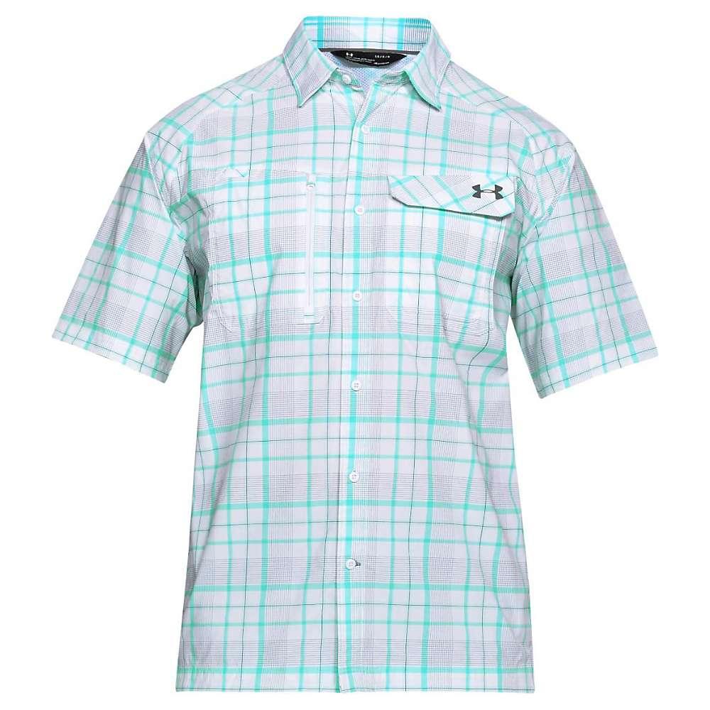 Under Armour Men's UA Fish Hunter SS Plaid Shirt - XXL - White / Graphite