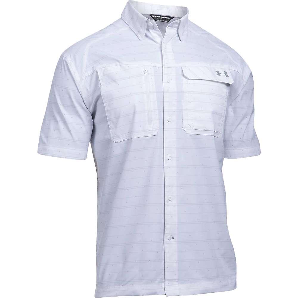 Under Armour Men's UA Fish Hunter SS Plaid Shirt - XL - White / Steel