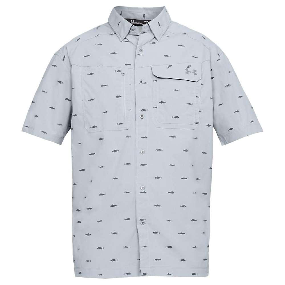 Under Armour Men's UA Fish Hunter SS Plaid Shirt - XL - Steel / Graphite