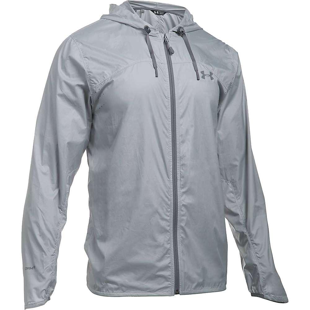 Under Armour Men's UA Leeward Windbreaker Jacket - XL - Overcast Grey / Graphite / Graphite