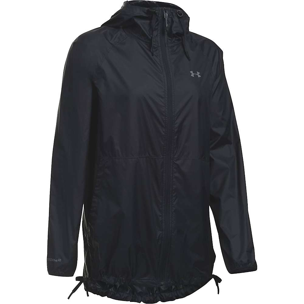 Under Armour Women's UA Leeward Windbreaker Jacket - XS - Black / Black / Graphite