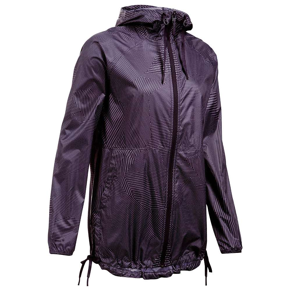 Under Armour Women's UA Leeward Windbreaker Jacket - Small - Imperial Purple / Imperial Purple / Flint