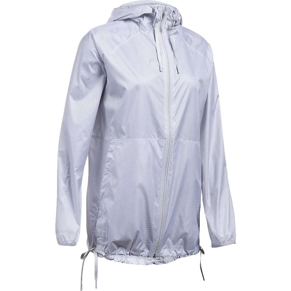 Under Armour Women's UA Leeward Windbreaker Jacket - XS - White / Glacier Grey / Overcast Grey
