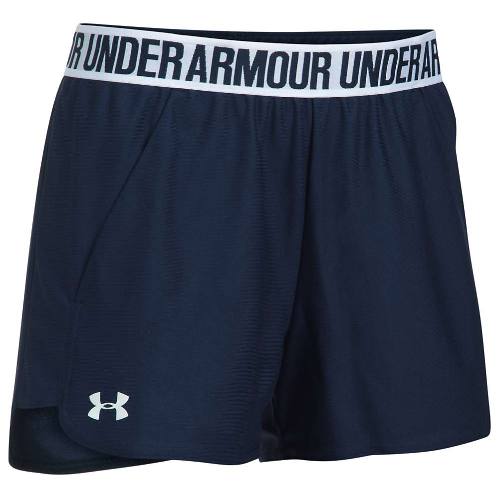 Under Armour Women's UA New Play Up Short - Medium - Midnight Navy / Midnight Navy / White
