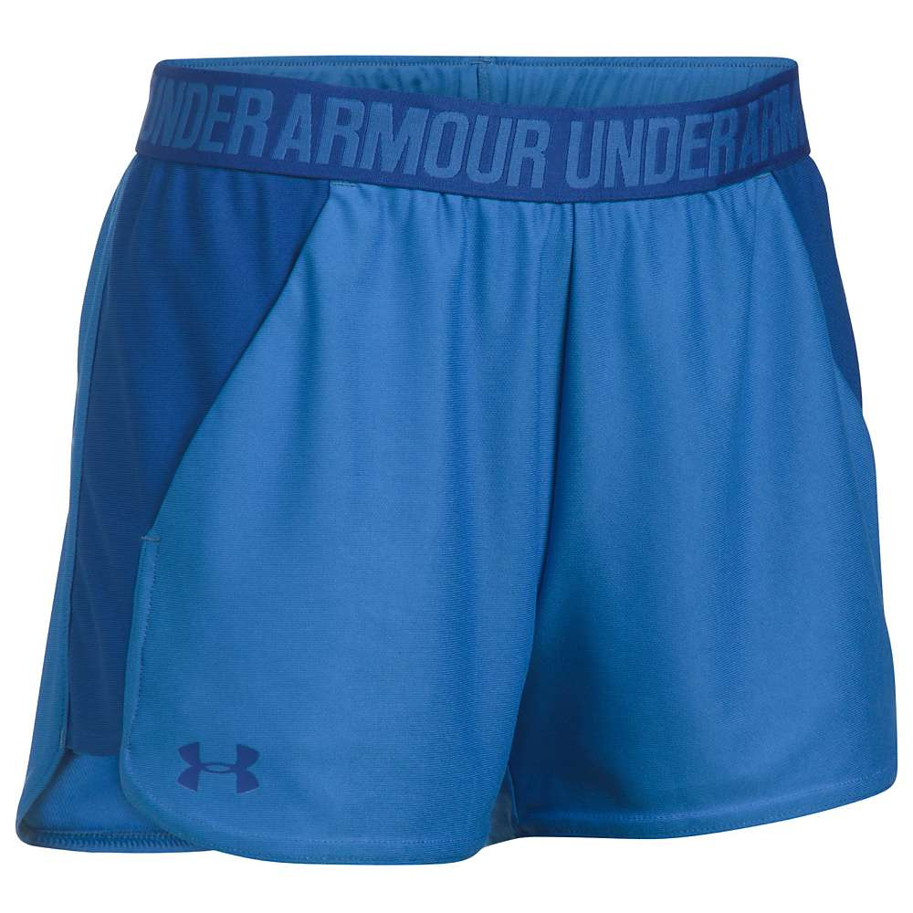 Under Armour Women's UA New Play Up Short - Large - Mediterranean / Royal / Royal