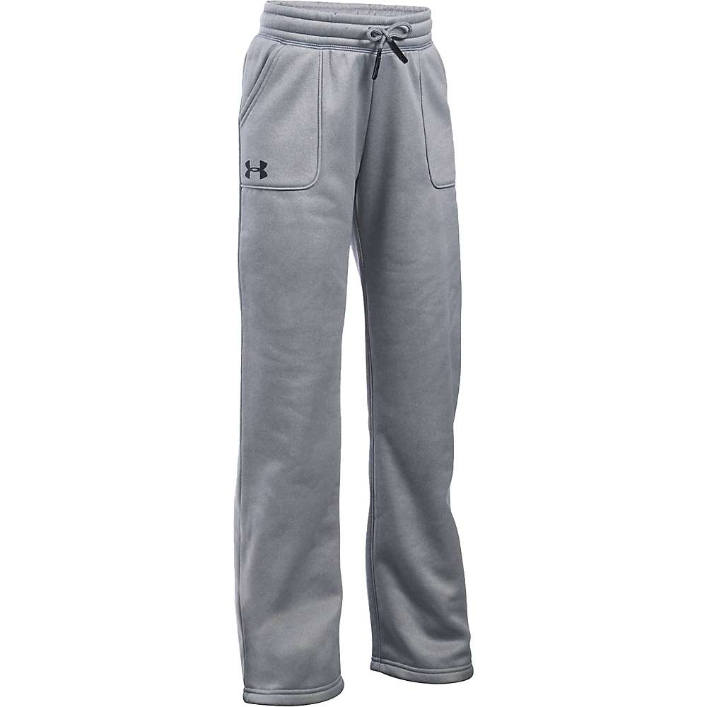 Under Armour Girls' UA Storm Armour Fleece Training Pant - Small - True Grey Heather / Black