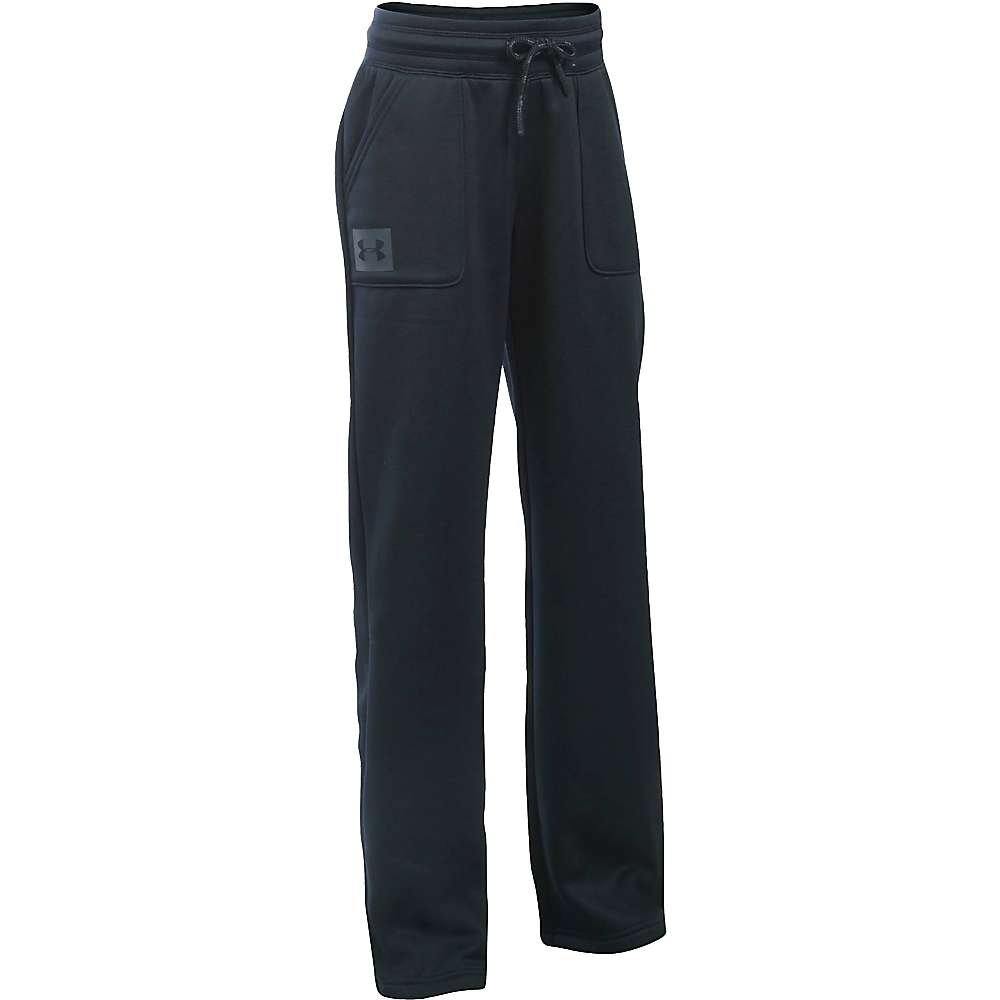 Under Armour Girls' UA Storm Armour Fleece Training Pant - Small - Black / Stealth Grey