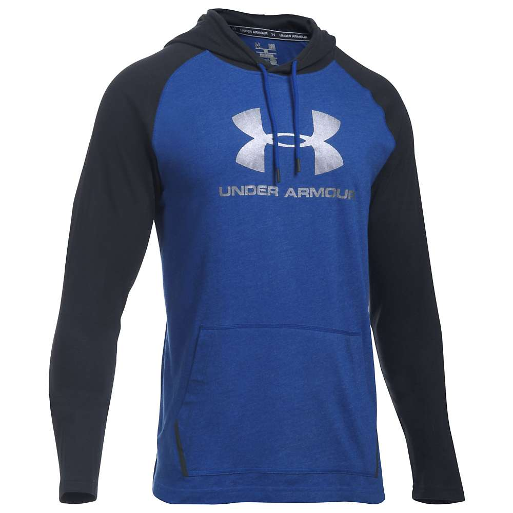 Under Armour Men's UA Sportstyle Jersey Hoodie - Small - Royal / Black / Black
