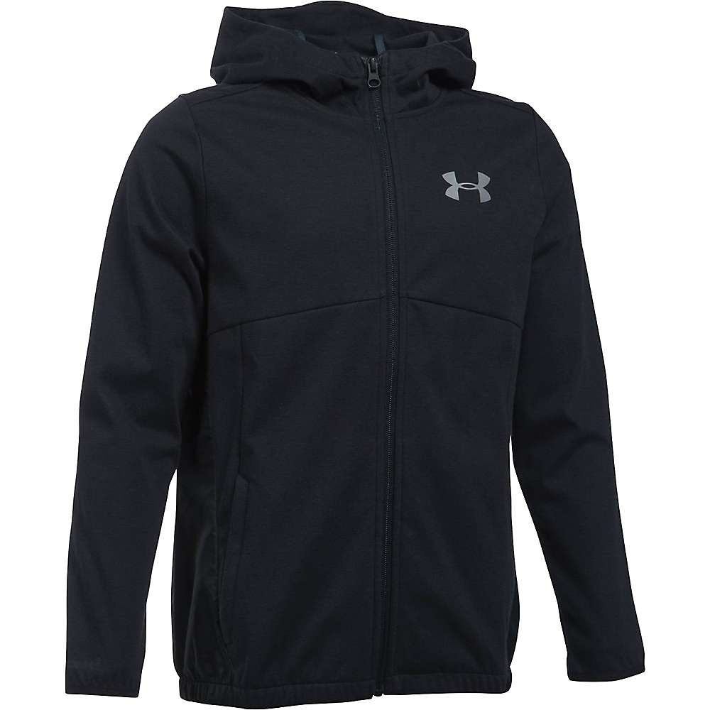 Under Armour Boys' UA Spring Swacket - Small - Black / Reflective