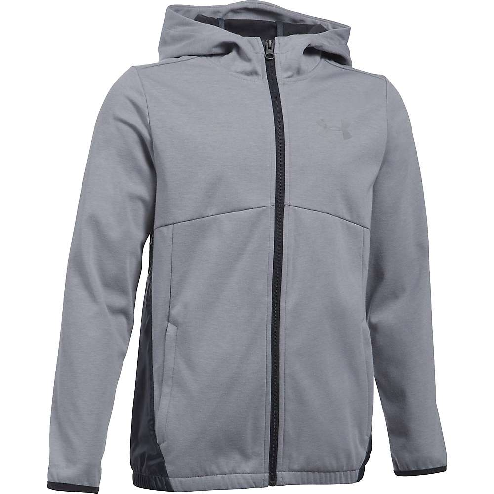 Under Armour Boys' UA Spring Swacket - XL - True Grey Heather / Reflective