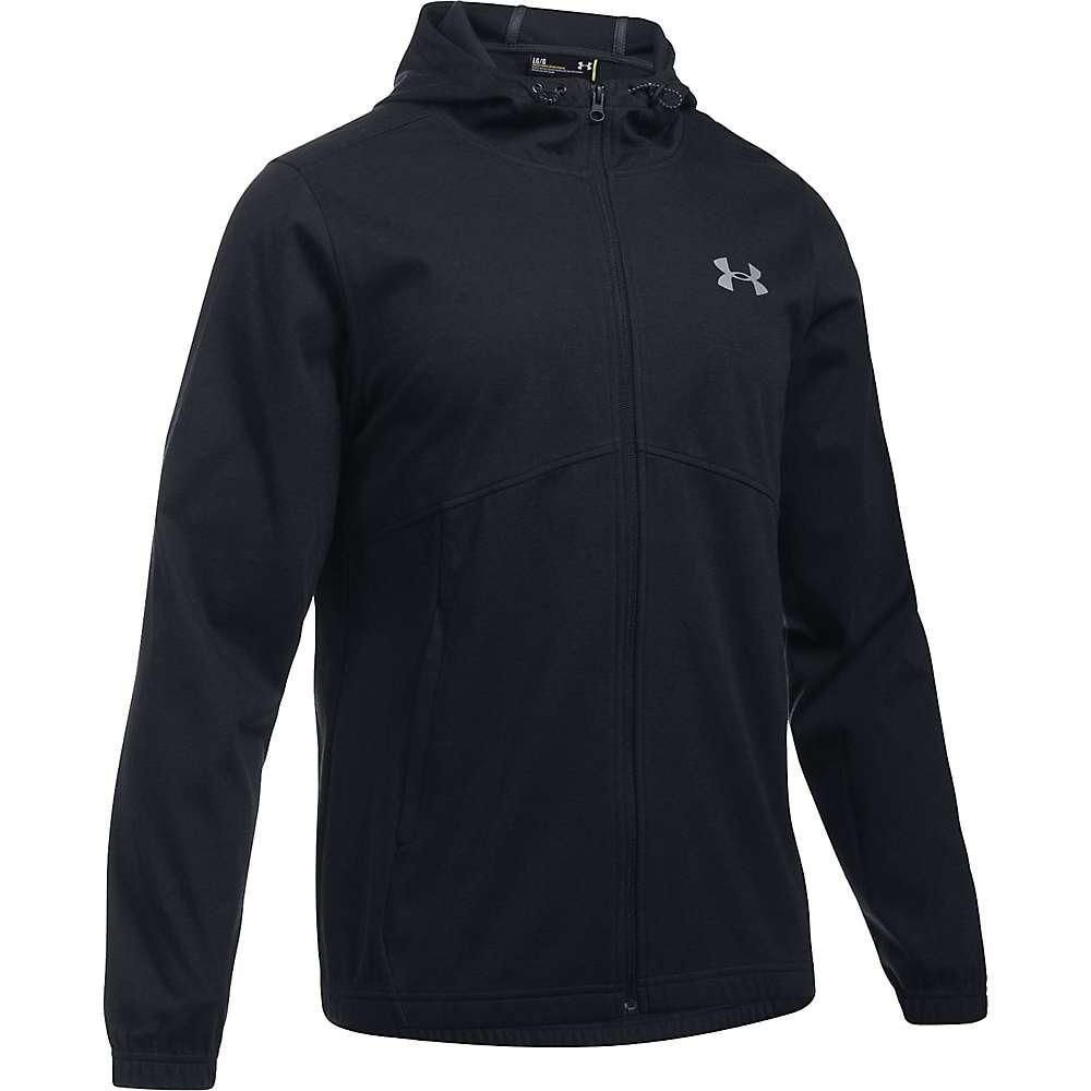 Under Armour Men's UA Spring Swacket Solid Full Zip Hoodie - Medium - Black / Black / Silver