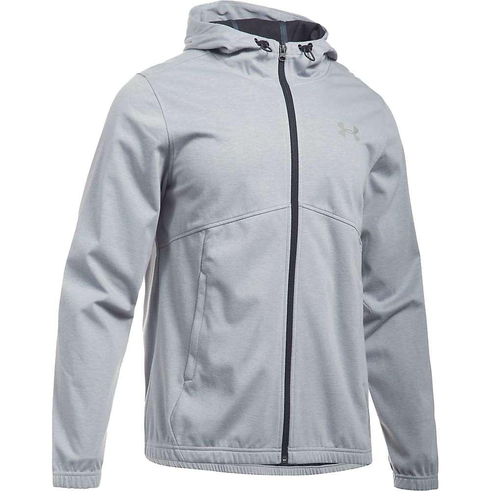 Under Armour Men's UA Spring Swacket Solid Full Zip Hoodie - XL - True Grey Heather / Black / Silver