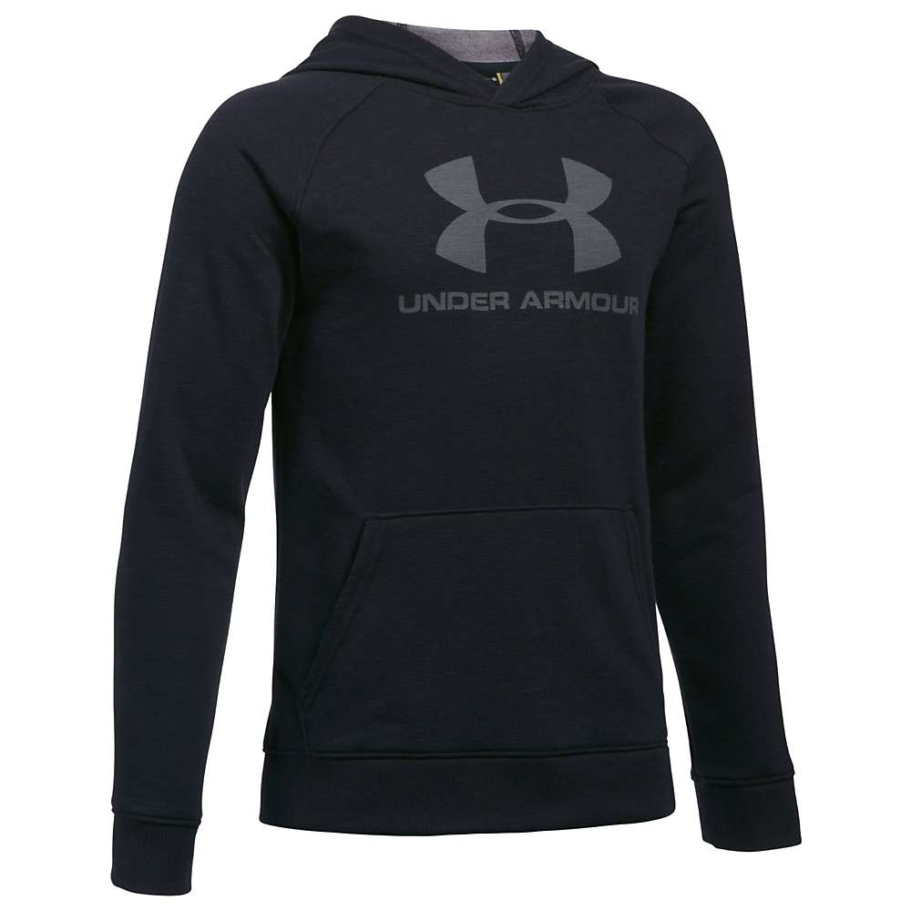 Under Armour Boys' UA Sportstyle Hoodie - Large - Black Medium Heather/Graphite Mdm Heather/Graphite