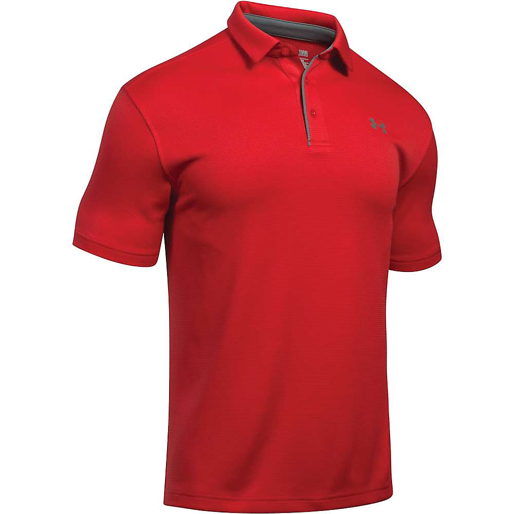 Under Armour Men's UA Tech Polo - Large - Red / Graphite / Graphite