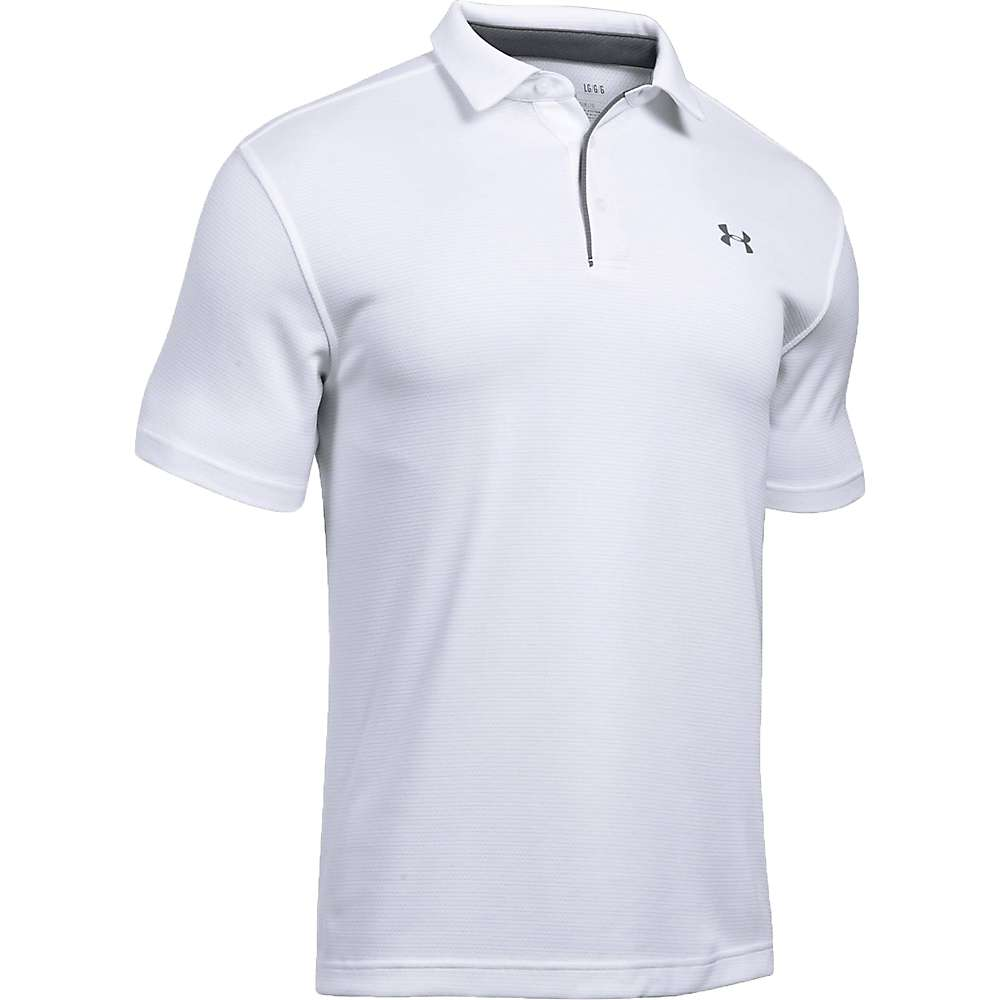 Under Armour Men's UA Tech Polo - XL - White / Graphite / Graphite