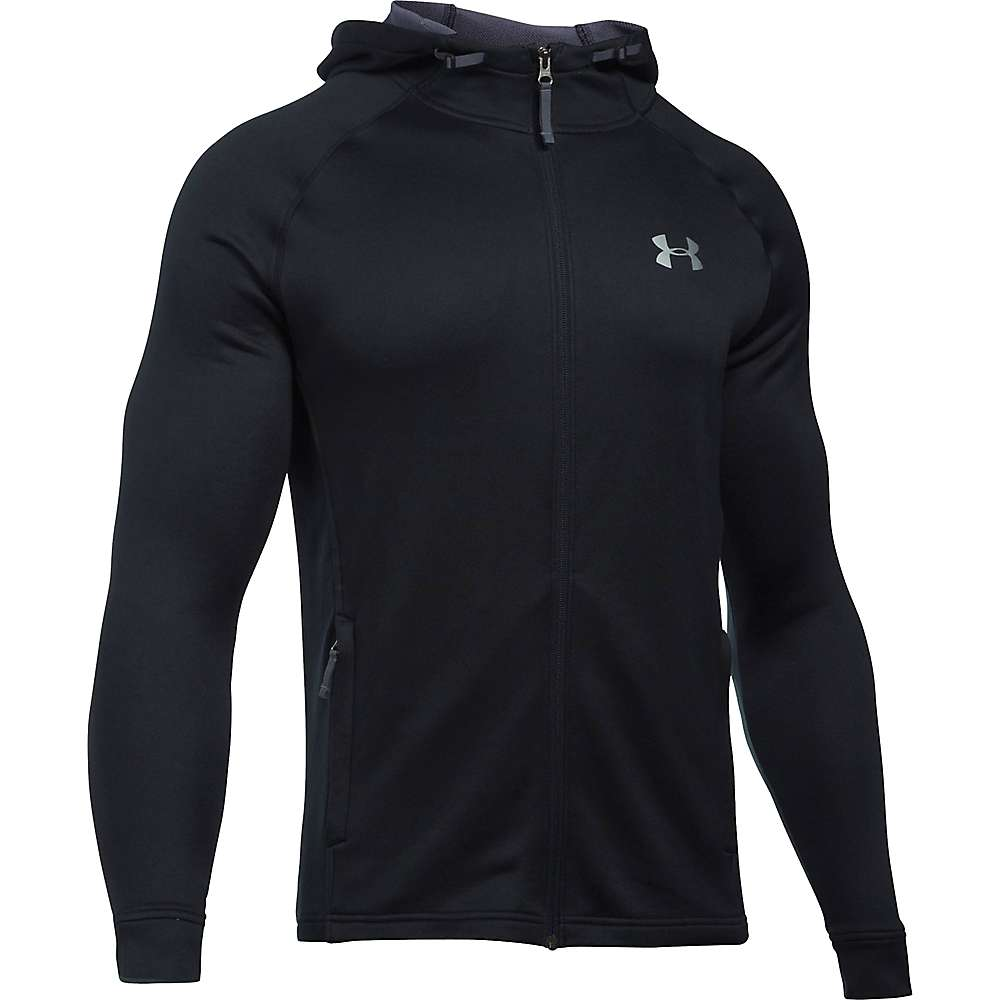 Under Armour Men's UA Tech Terry Full Zip Hoodie - XL - Black / Black / Silver